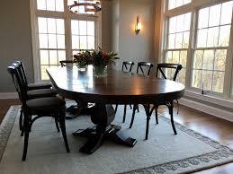 double weston pedestal in signature dark rustic trades furniture
