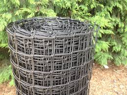 plastic garden fencing 1m x 25m black 50mm 2