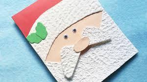how to make an adorable santa christmas card diy crafts tutorial