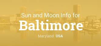 Baltimore Map Usa by Sun U0026 Moon Times Today Baltimore Maryland Usa