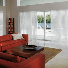 Decorating With Red Sofa Decorating White Vertical Levolor Blinds On Wheat Wall Matched