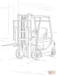 forklift coloring page free printable coloring pages