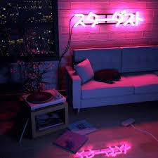 neon lighting for home neon lights for bedroom home design within rooms ideas 8