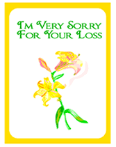 free printable sorry for your loss sympathy card condolence card