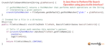 pattern java file in java how to perform file search operation using java nio file