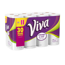 Strongest Sheets On The Market by Viva Paper Towels Choose A Sheet 8 Big Rolls Walmart Com