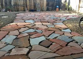 Rock Patio Design Flagstone Patio Mix Path Backyard Acme Sand U0026 Gravel