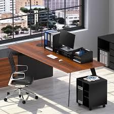 Desk Organizers Fitueyes Wood Desk Organizer File Cabinet 3 Vertical 1 Horizontal