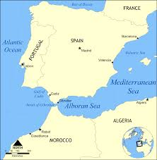 Spain On A Map Alboran Sea Map U2022 Mapsof Net