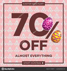easter egg sale easter egg sale banner background template 2 stock vector