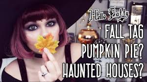 autumn fall tag 31 days of halloween youtube