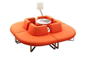 canapé circulaire moderne combinaison nouveauté coloré rond circulaire en forme tissu