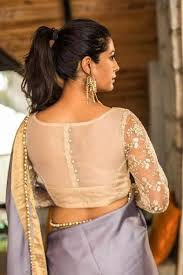 hairstyles for boat neckline net blouse designs latest blouse designs with net back net sleeves