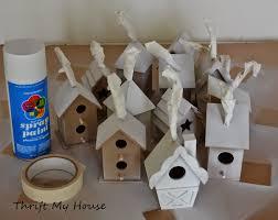 thrift my house 4 birdhouse ornaments