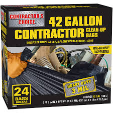 83 Gallon Deck Box by 24 Count Contractor U0027s Choice 42 Gallon Outdoor Construction Trash