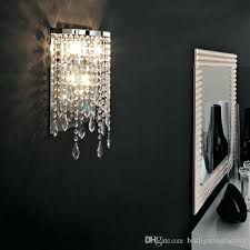 Possini Vanity Lighting Sconce Possini Euro Silver Line 12h Chrome And Crystal Sconce