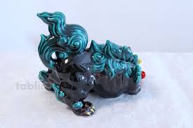 kutani shishi japanese leo shishi lion dog kutani porcelain arrow kochi