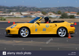 Porsche Boxster Yellow - porsche boxster competing in pcasb autocross race at oxnard stock