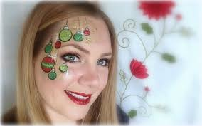 glittery ornaments painting and makeup