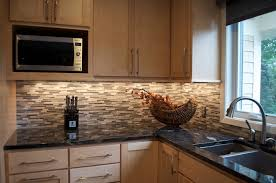 backsplashes for kitchens maple cabinets with subway tile backsplash and counters