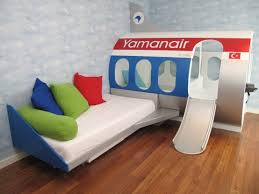 Sofa Bed For Kids Bedroom Furniture Blue Boys Room Toddler Boy Bed Aeroplane Ideas