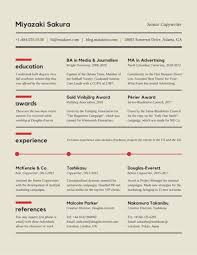 Copywriter Resume Template Sectioned Copywriter Resume Templates By Canva