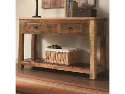 Coaster Curio Cabinet Coaster Accent Cabinets Rustic Console Table W Drawers Prime
