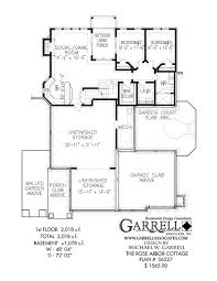 one story house plans with basement arbor cottage house plan house plans by garrell associates