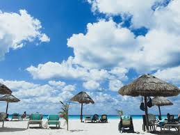 Beach Sun Umbrella Free Picture Parasol Beach Water Sand Sun Exotic Sky