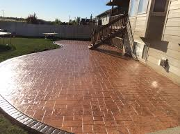 stamped concrete patio designs decoration ideas cheap simple to