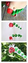 the very hungry caterpillar toe print craft for kids amanda toe
