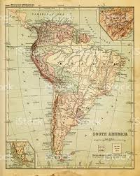 South West America Map by Old Map Of South America Stock Vector Art 184925435 Istock