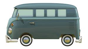 volkswagen van front view 3d cartoon styled vintage vw bus on behance
