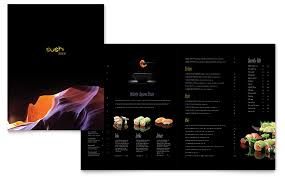 menu publisher template sushi restaurant menu template word publisher