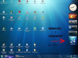 desktop calendar windows 7 calendar template