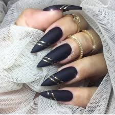 glamorous black and gold nail designs gold nail stilettos and gold