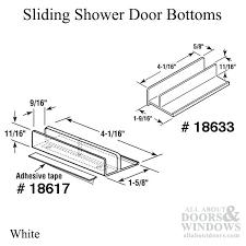 Shower Door Bottom Guide Tags1 Slide Co Sliding Shower Door Bottom Guide Guide