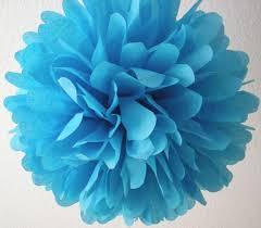 turquoise 1 tissue paper pom pom wedding decorations diy