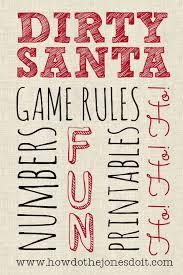 dirty santa gift exchange how do the jones do it