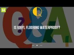 is vinyl flooring waterproof