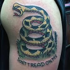 40 dont tread on me tattoo designs for men liberty ink