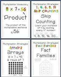 4th grade multiplication fact anchor chart multiplication