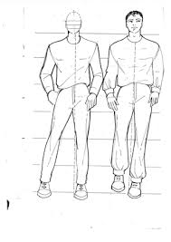 drawing male fashion figures
