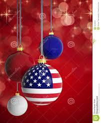 christmas balls with usa flag stock photos image 33548643