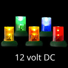 volt led light set multi green wire