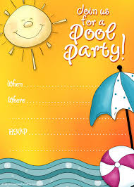 free printable party invitations free printable pool party