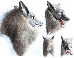Werewolf Halloween Costume Werewolf Halloween Mask Big Bad Wolf Latex Head Wolf Mask Costume