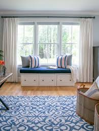 navy coral and cream master bedroom with shiplap details the