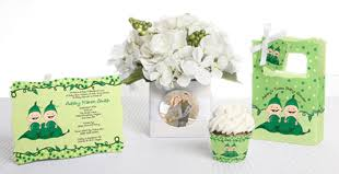 two peas in a pod baby shower decorations triplets baby shower ideas by babyshowerstuff
