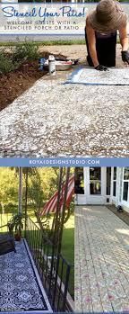 Patio Floor Design Ideas Diy Decorating Ideas For Stenciling A Porch Or Patio Floor Design